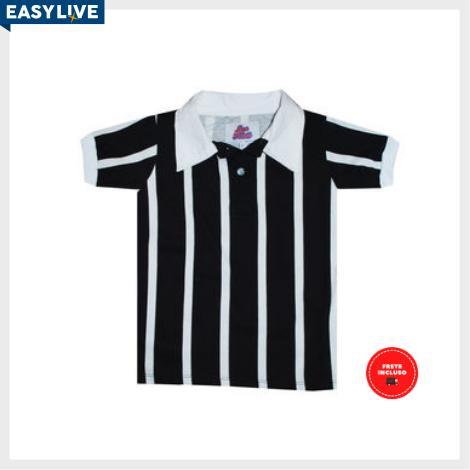 Liga Retrô | Camisa Infantil Polo Botão Listrado