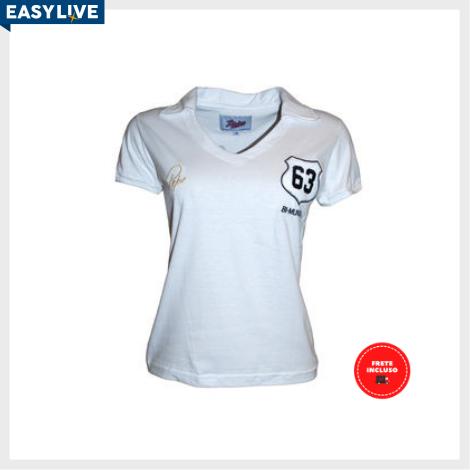 Liga Retrô | Camisa Feminina Pepe 1963 Branca