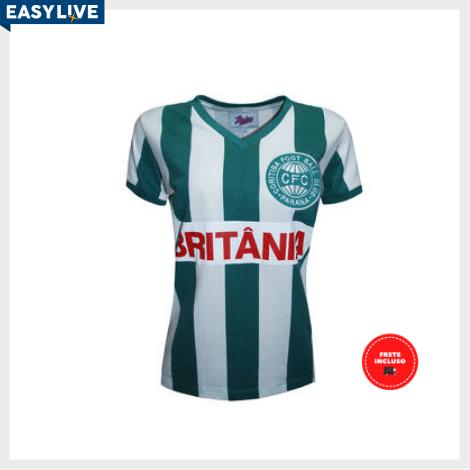 Liga Retrô | Camisa Feminina Coritiba 1985