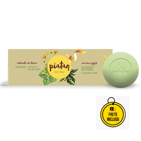 Piatan Natural | Sabonete Vegetal Refresca