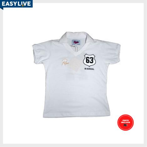 Liga Retrô | Camisa Infantil Pepe 1963 Branca