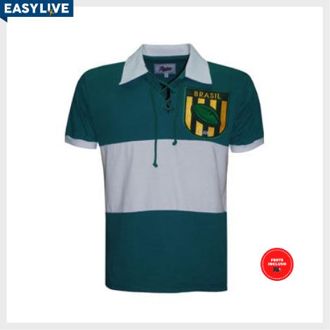 Liga Retrô | Camisa Brasil Rugby Verde Curta