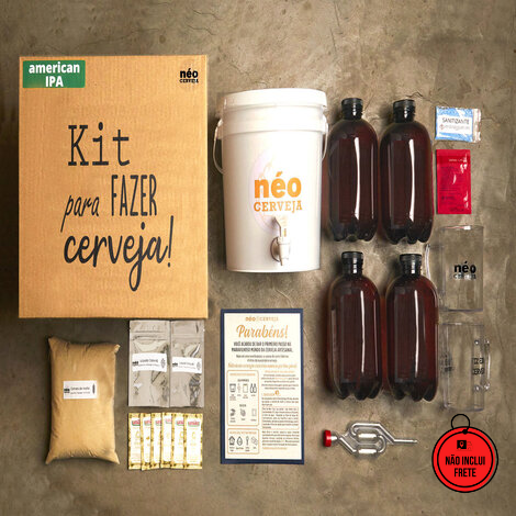 Neo Cerveja | Kit Cervejeiro 4 litros com curso