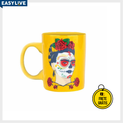 Nerdstore | Mini Caneca Frida Kahlo Face