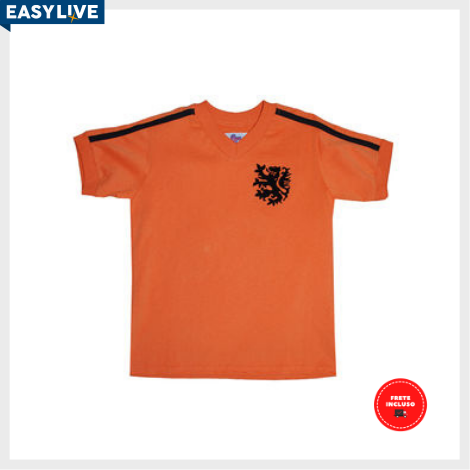 "Liga Retrô | Camisa Infantil Holanda 1974 N ""14"""