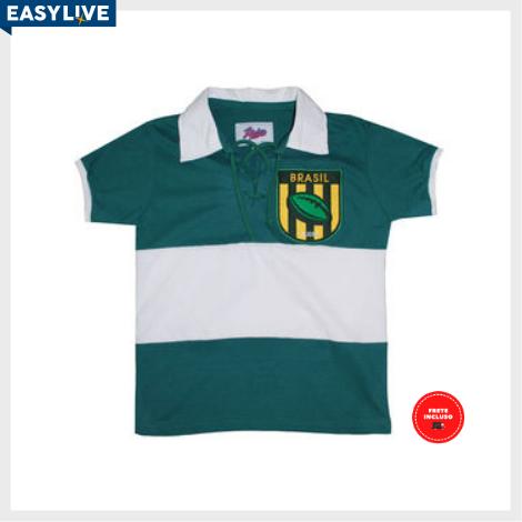 Liga Retrô | Camisa Infantil Brasil Rugby Verde