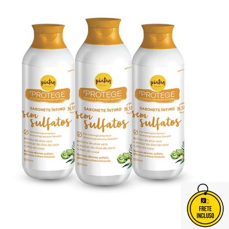 Piatan Natural | Kit Com 3 sabonetes Íntimos Sem Sulfatos