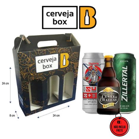 Cerveja Box | Kit Presenteável 3 Cervejas Artesanais