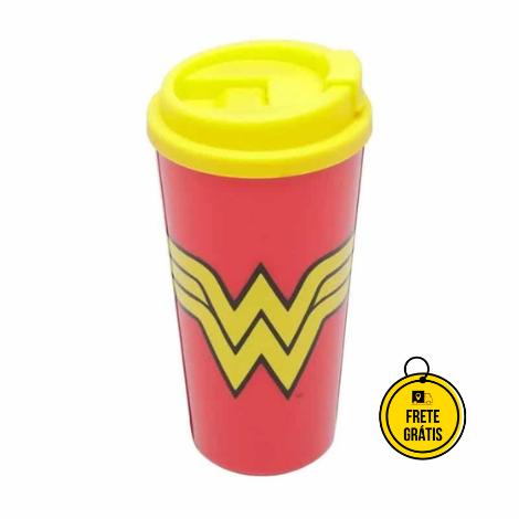 Nerdstore | Copo com Tampa Wonder Woman