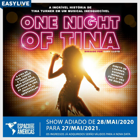 "Espetáculo musical ""One Night of Tina – A História de Tina Turner"""