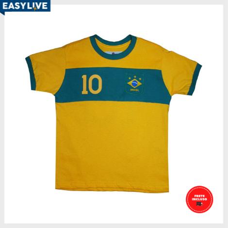 Liga Retrô | Camisa Infantil Brasil Modelo 1