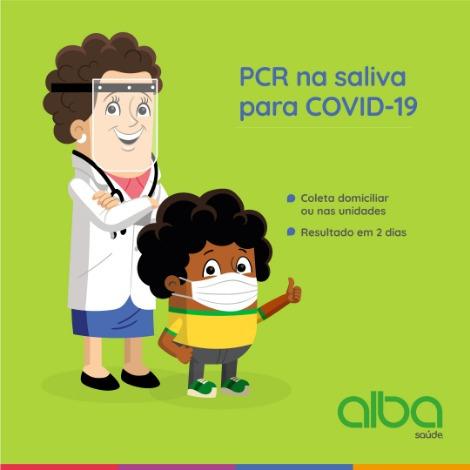 Alba Saúde |PCR na saliva para COVID - 19