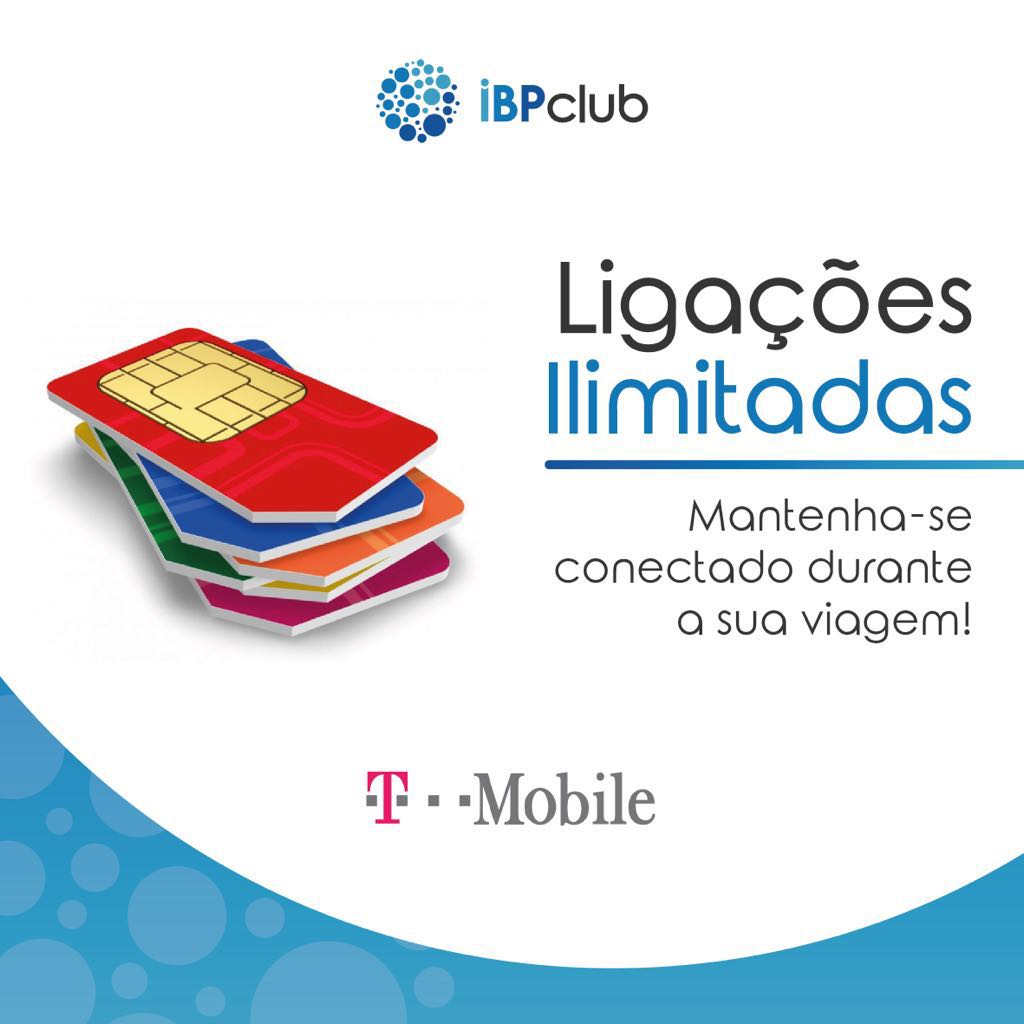 T-Mobile - Pacote de internet internacional